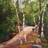 Over the River and Through the Woods - 10x20 oil;  For purchase, contact the artist